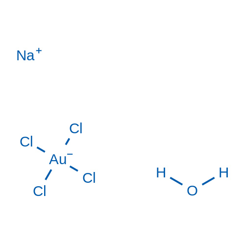 Sodium tetrachloroaurate(III) xhydrate