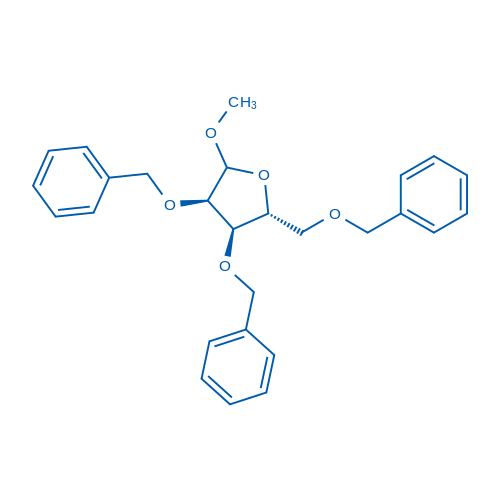 (2R,3R,4R)-3,4-Bis(benzyloxy)-2-((benzyloxy)methyl)-5-methoxytetrahydrofuran