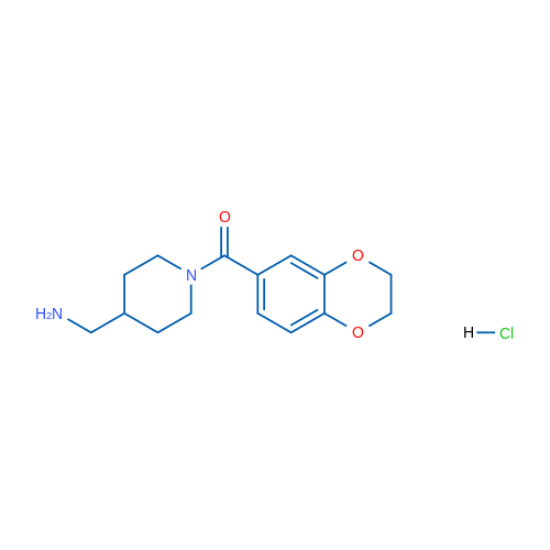 (4-(Aminomethyl)piperidin-1-yl)(2,3-dihydrobenzo[b][1,4]dioxin-6-yl)methanone hydrochloride