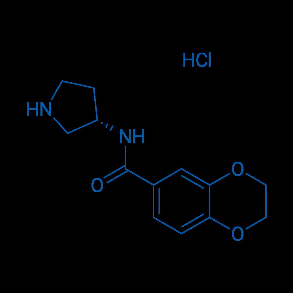 (S)-N-(Pyrrolidin-3-yl)-2,3-dihydrobenzo[b][1,4]dioxine-6-carboxamide hydrochloride