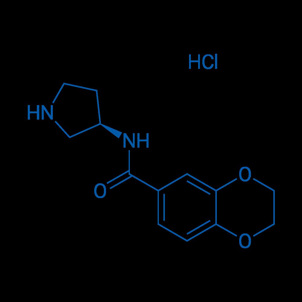 (R)-N-(Pyrrolidin-3-yl)-2,3-dihydrobenzo[b][1,4]dioxine-6-carboxamide hydrochloride