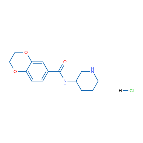 N-(Piperidin-3-yl)-2,3-dihydrobenzo[b][1,4]dioxine-6-carboxamide hydrochloride