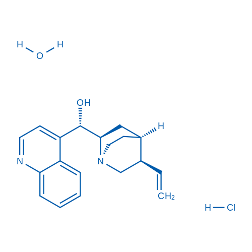 (S)-Quinolin-4-yl((1S,2R,4S,5R)-5-vinylquinuclidin-2-yl)methanol hydrochloride hydrate