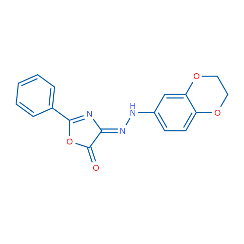 4-(2-(2,3-Dihydrobenzo[b][1,4]dioxin-6-yl)hydrazono)-2-phenyloxazol-5(4H)-one
