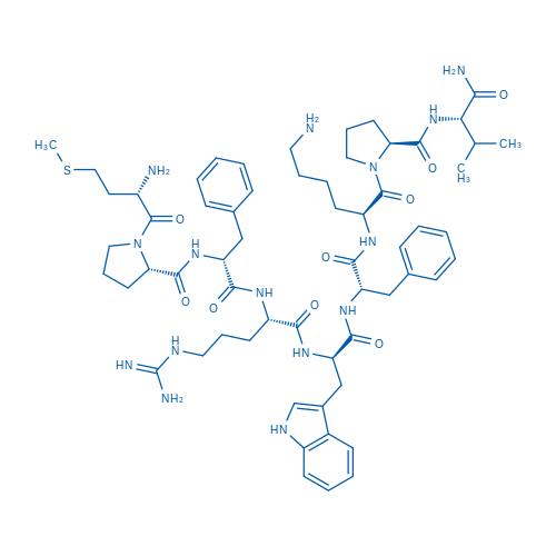 H-Met-Pro-D-Phe-Arg-D-Trp-Phe-Lys-Pro-Val-NH2