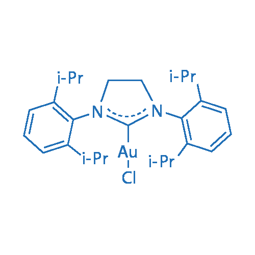 Chloro{1,3-bis[2,6-bis(1-methylethyl)phenyl]-4,5-dihydroimidazol-2-ylidene}gold(I)