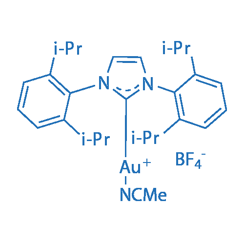 1,3-Bis(2,6-di-i-propylphenyl)imidazol-2-ylidene(acetonitrile)gold(I)