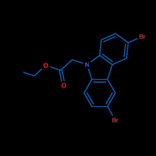Ethyl 2-(3,6-dibromo-9H-carbazol-9-yl)acetate