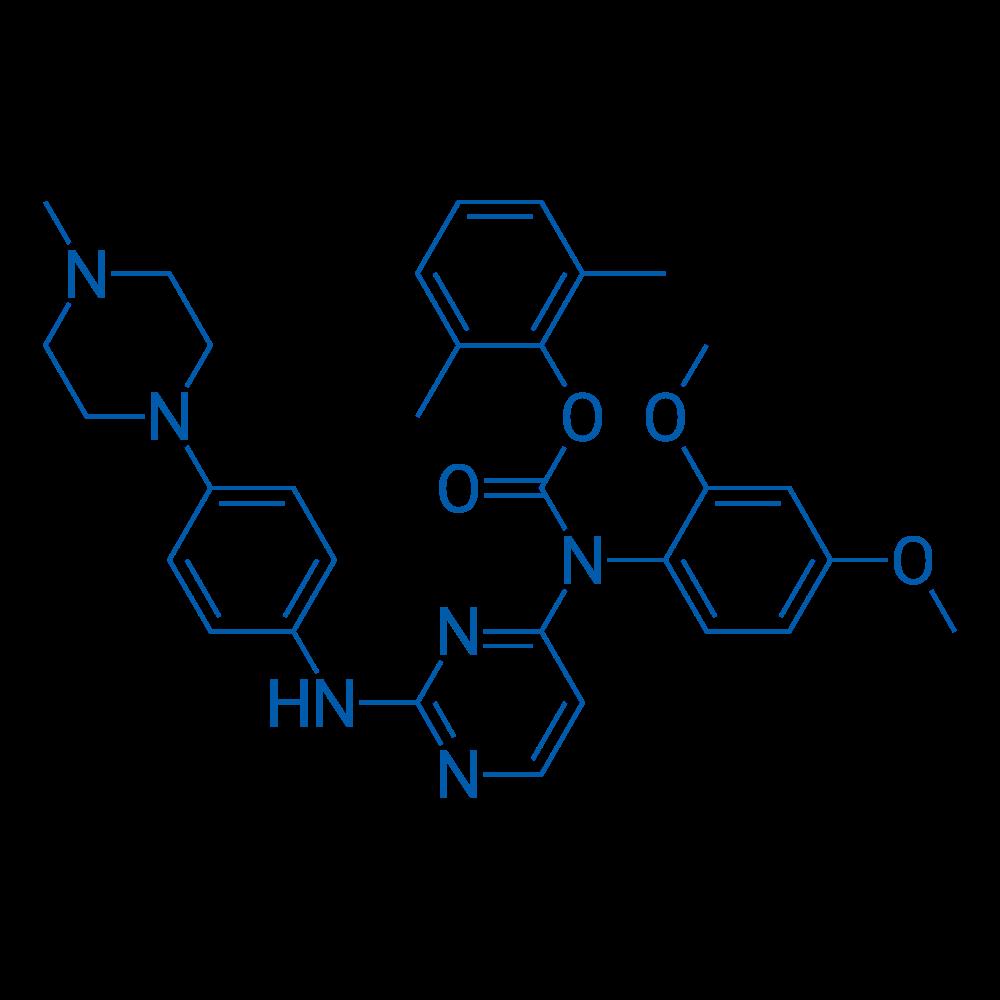 2,6-Dimethylphenyl (2,4-dimethoxyphenyl)(2-((4-(4-methylpiperazin-1-yl)phenyl)amino)pyrimidin-4-yl)carbamate
