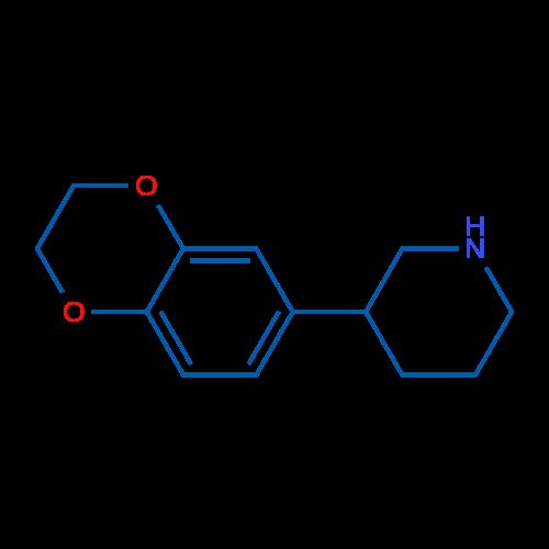 3-(2,3-Dihydrobenzo[b][1,4]dioxin-6-yl)piperidine