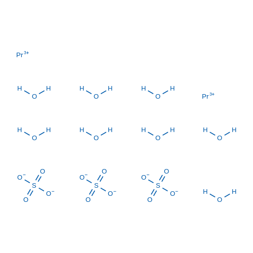 Praseodymium(III) sulfate octahydrate