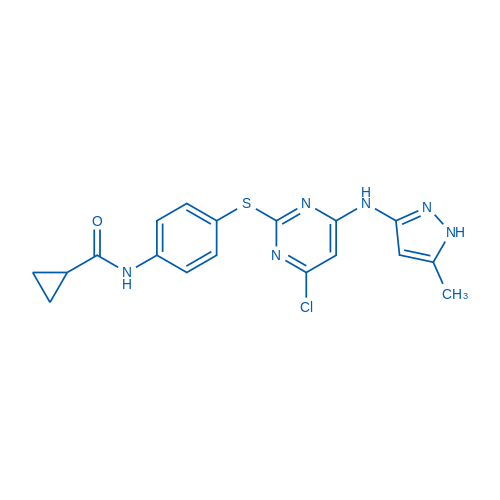 N-(4-((4-Chloro-6-((5-methyl-1H-pyrazol-3-yl)amino)pyrimidin-2-yl)thio)phenyl)cyclopropanecarboxamide