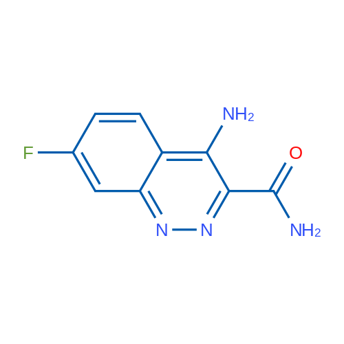 4-Amino-7-fluorocinnoline-3-carboxamide