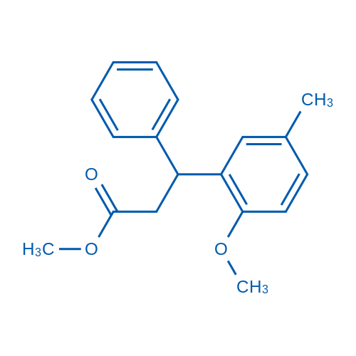 Methyl 3-(2-methoxy-5-methylphenyl)-3-phenylpropionate