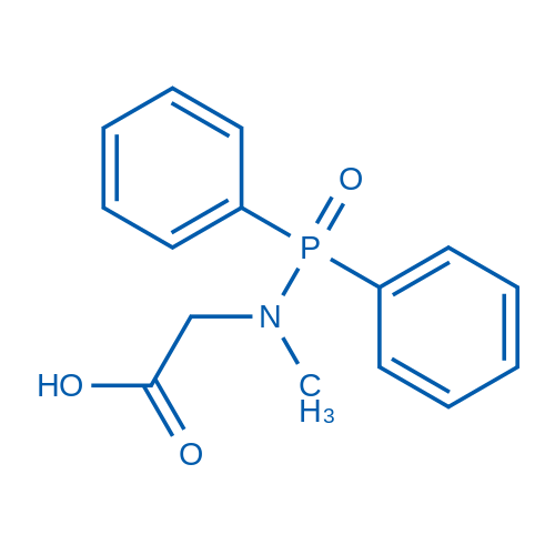 2-((Diphenylphosphoryl)(methyl)amino)acetic acid