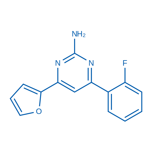 4-(2-Fluorophenyl)-6-(furan-2-yl)pyrimidin-2-amine