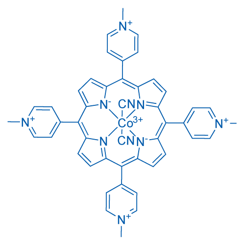 Pyridinium, 4,4',4'',4'''-(21H,23H-porphine-5,10,15,20-tetrayl)tetrakis[1-methyl-, cobalt complex