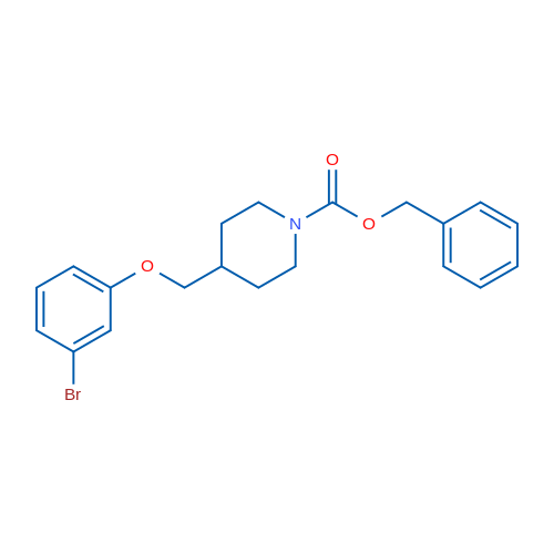 Benzyl 4-((3-bromophenoxy)methyl)piperidine-1-carboxylate