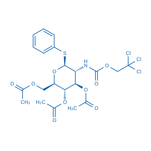 (2R,3S,4R,5R,6S)-2-(Acetoxymethyl)-6-(phenylthio)-5-(((2,2,2-trichloroethoxy)carbonyl)amino)tetrahydro-2H-pyran-3,4-diyl diacetate