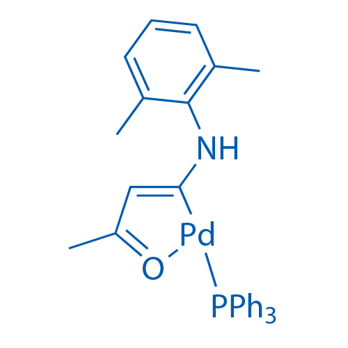 Chloro[1-[(2,6-dimethylphenyl)amino]-3-(oxo-κO)-1-butenyl-κC](triphenylphosphine)palladium
