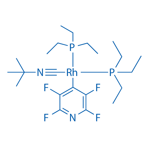[2-(Isocyano-κC)-2-methylpropane](2,3,5,6-tetrafluoro-4-pyridinyl)bis(triethylphosphine)rhodium