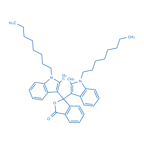3,3-Bis(2-methyl-1-octyl-1H-indol-3-yl)isobenzofuran-1(3H)-one