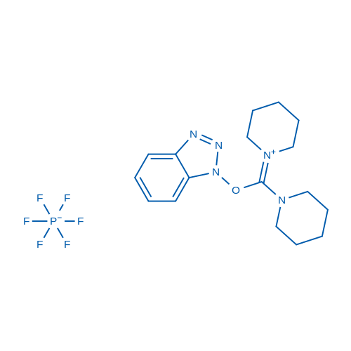 1-(((1H-Benzo[d][1,2,3]triazol-1-yl)oxy)(piperidin-1-yl)methylene)piperidin-1-ium hexafluorophosphate(V)