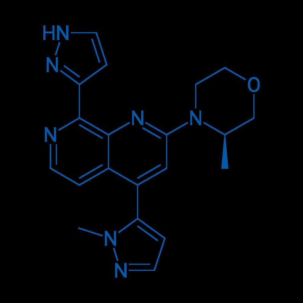 (R)-3-Methyl-4-(4-(1-methyl-1H-pyrazol-5-yl)-8-(1H-pyrazol-3-yl)-1,7-naphthyridin-2-yl)morpholine
