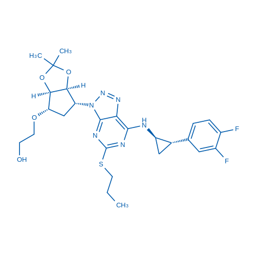2-(((3aR,4S,6R,6aS)-6-(7-(((1R,2S)-2-(3,4-Difluorophenyl)cyclopropyl)amino)-5-(propylthio)-3H-[1,2,3]triazolo[4,5-d]pyrimidin-3-yl)-2,2-dimethyltetrahydro-3aH-cyclopenta[d][1,3]dioxol-4-yl)oxy)ethanol