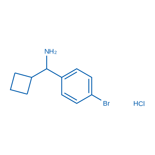 (4-Bromophenyl)(cyclobutyl)methanamine hydrochloride
