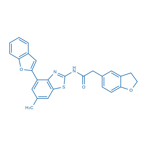 N-(4-(Benzofuran-2-yl)-6-methylbenzo[d]thiazol-2-yl)-2-(2,3-dihydrobenzofuran-5-yl)acetamide