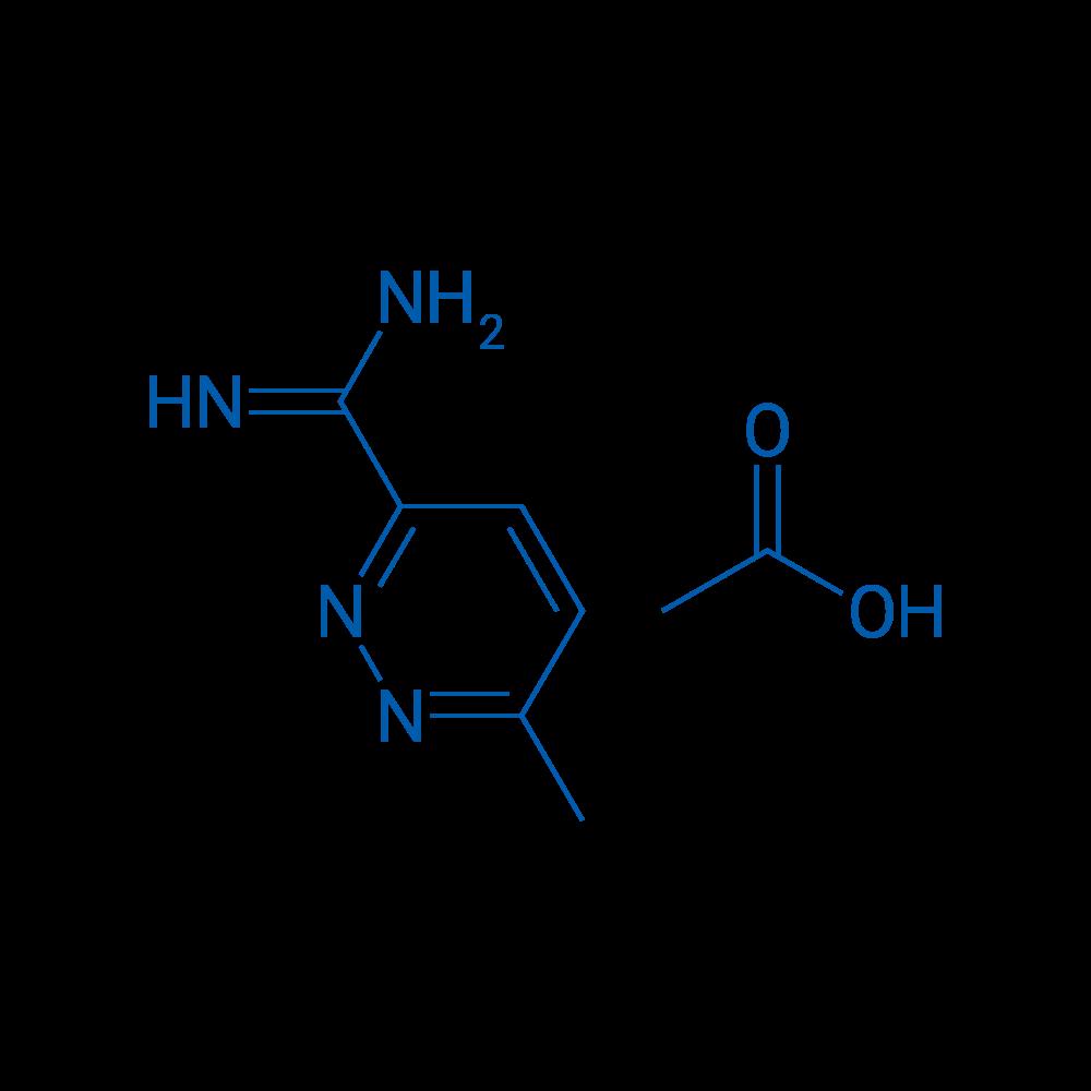 6-Methylpyridazine-3-carboximidamide acetate