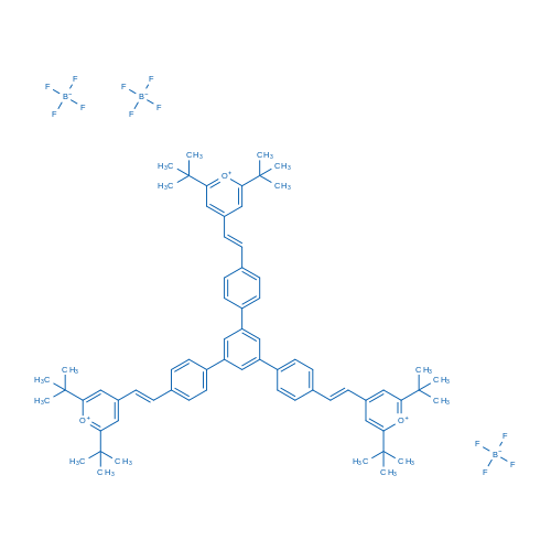 1,3,5-Tris[4-[(E)-2-(2,6-di-tert-butylpyrylium-4-yl)vinyl]phenyl]benzene Tetrafluoroborate