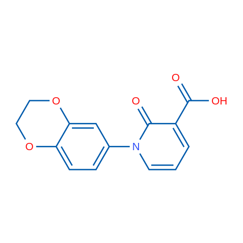 1-(2,3-Dihydrobenzo[b][1,4]dioxin-6-yl)-2-oxo-1,2-dihydropyridine-3-carboxylic acid