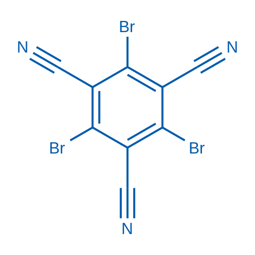 2,4,6-tribromobenzene-1,3,5-tricarbonitrile