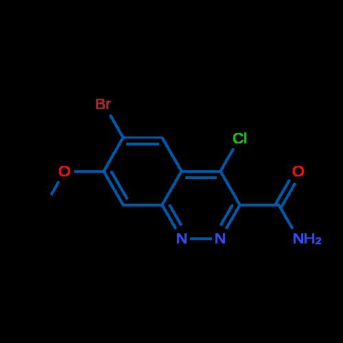 6-Bromo-4-chloro-7-methoxycinnoline-3-carboxamide