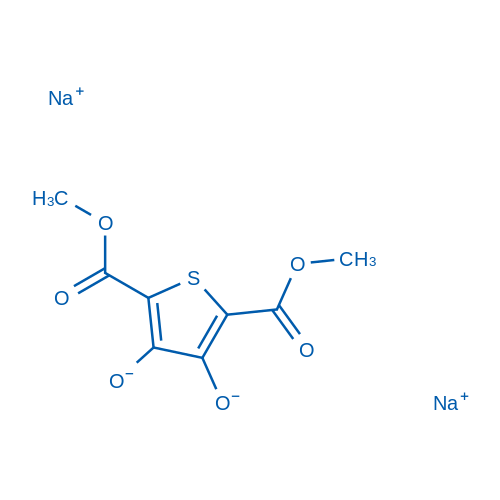 Dimethyl 3,4-dihydroxythiophene-2,5-dicarboxylate, disodium salt