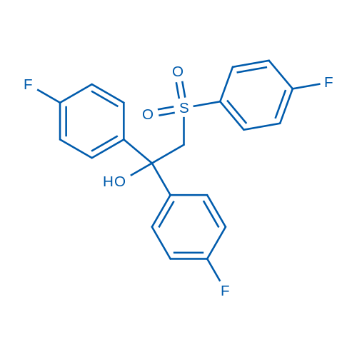 2-(4-Fluorobenzenesulfonyl)-1,1-bis(4-fluorophenyl)ethan-1-ol