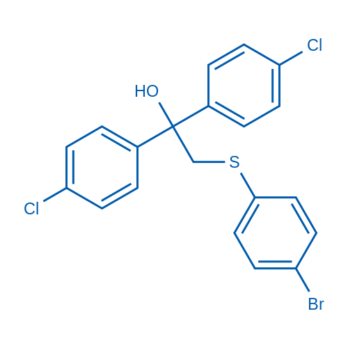 2-[(4-Bromophenyl)sulfanyl]-1,1-bis(4-chlorophenyl)ethan-1-ol
