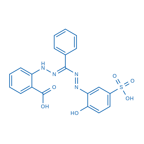 2-(2-(((2-Hydroxy-5-sulfophenyl)diazenyl)(phenyl)methylene)hydrazinyl)benzoic acid