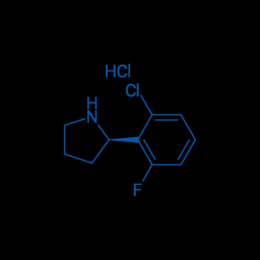 (R)-2-(2-Chloro-6-fluorophenyl)pyrrolidine hydrochloride