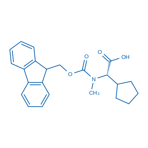 (S)-2-((((9H-Fluoren-9-yl)methoxy)carbonyl)(methyl)amino)-2-cyclopentylacetic acid
