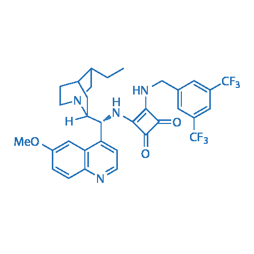 3-((3,5-Bis(trifluoromethyl)benzyl)amino)-4-(((R)-((1S,2R,4S,5R)-5-ethylquinuclidin-2-yl)(6-methoxyquinolin-4-yl)methyl)amino)cyclobut-3-ene-1,2-dione