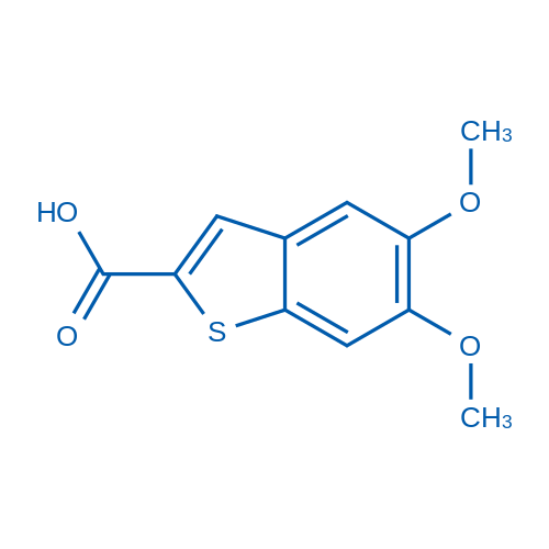 5,6-Dimethoxybenzo[b]thiophene-2-carboxylic acid