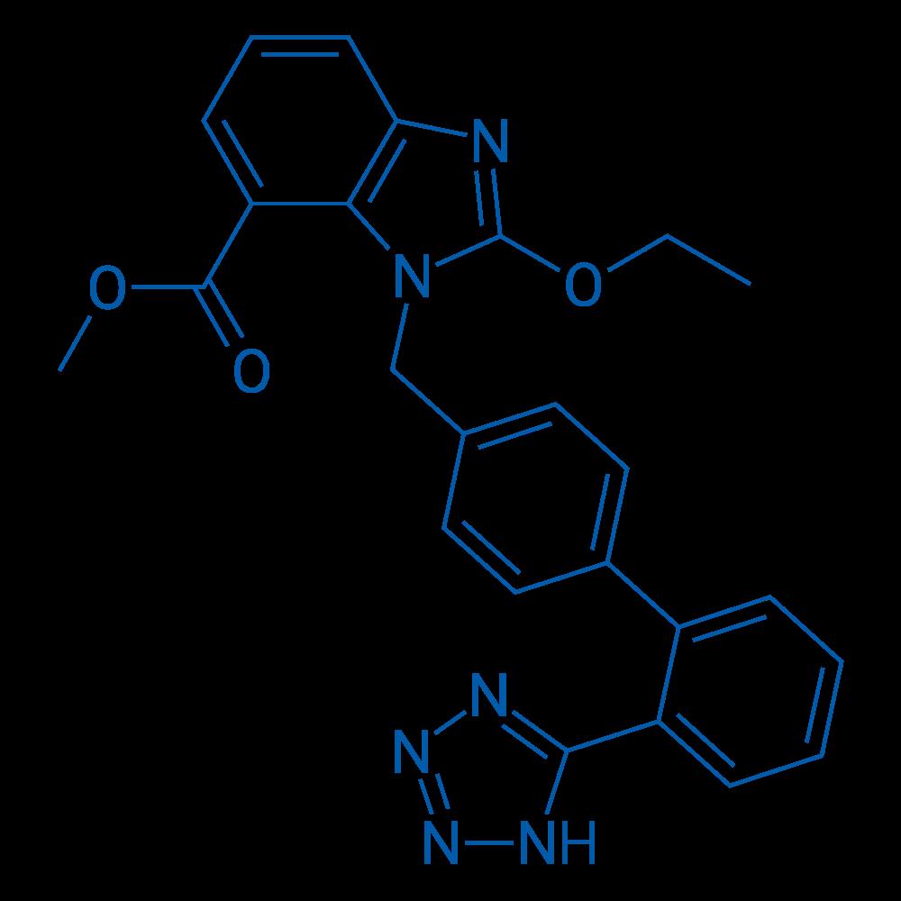 Methyl 1-((2'-(2H-tetrazol-5-yl)-[1,1'-biphenyl]-4-yl)methyl)-2-ethoxy-1H-benzo[d]imidazole-7-carboxylate