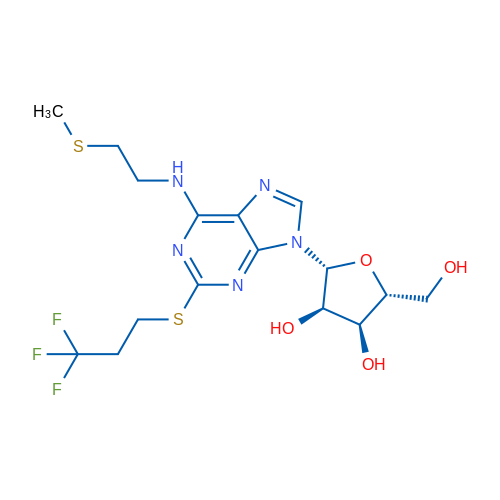 (2R,3S,4R,5R)-2-(Hydroxymethyl)-5-(6-((2-(methylthio)ethyl)amino)-2-((3,3,3-trifluoropropyl)thio)-9H-purin-9-yl)tetrahydrofuran-3,4-diol